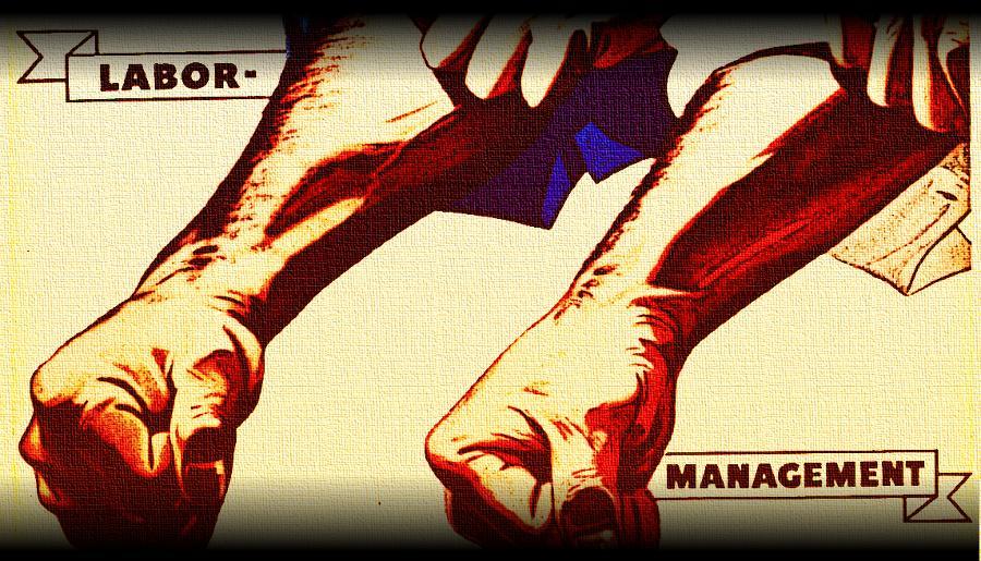 Labor Management Poster - public domain image